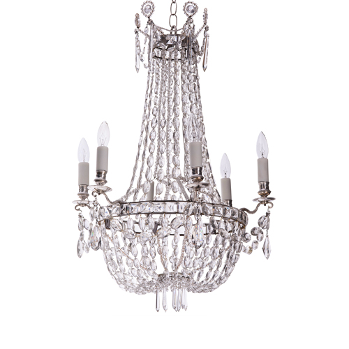silver plate french chandelier