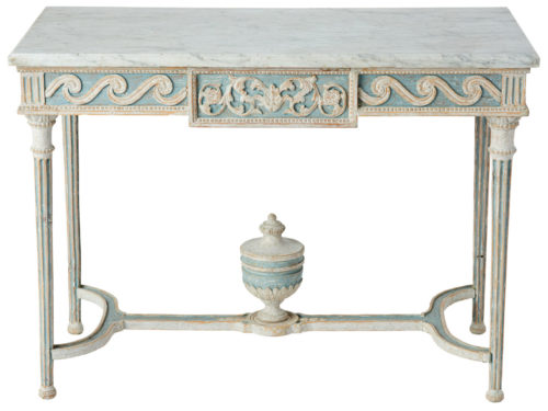 A Swedish Gustavian Period Freestanding Console Table with Marble Top, Circa 1780
