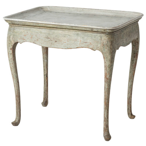 A Swedish Rococo Period Tray Table Circa 1770, from a Famous Collector