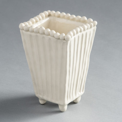 Frances Palmer hand thrown Trapezoid vase
