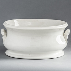 7-7980 Ironstone Foot-tub with Twig Motif Handles