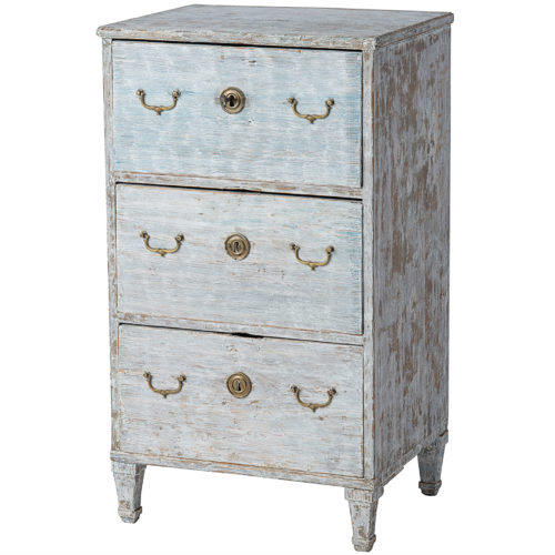 A Gustavian Period Commode with Original Blue White Paint, Circa 1800