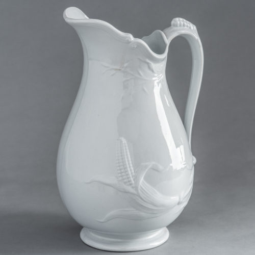 D-1678 Ironstone Pitcher with Corn Motif