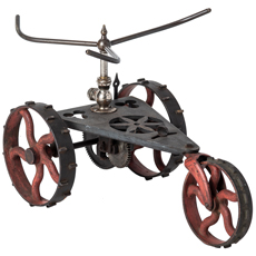 American Made Large Cast Iron Tractor Sprinkler Circa 1900