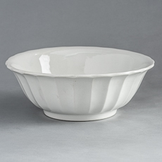 D-991_Ironstone Bowl with Scalloped Sides
