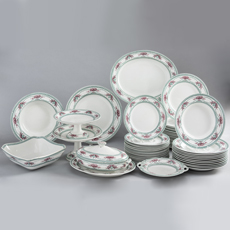 "7-7995_Partial Dinner Service by Wedgwood in ""Compiégne"" Pattern"