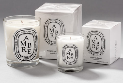 Ambre / Amber scented candles