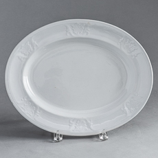 Oval Platter with Decoration on Rim