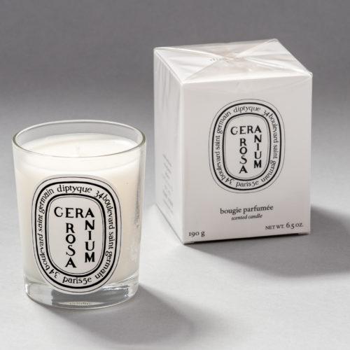Géranium Rosa scented candle