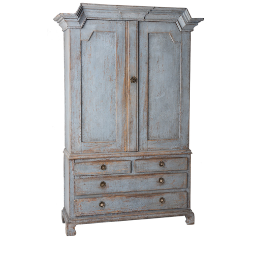 Blue Gustavian Cupboard