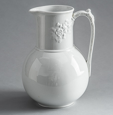 D-1821_Globe Shaped English Ironstone Pitcher