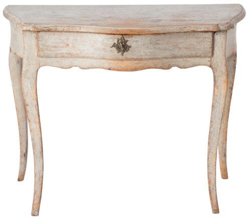 A Swedish Rococo Console Table in Original Creamy Grey Paint, Circa 1775