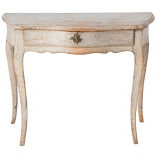 A Swedish Rococo Console Table in Original Creamy Grey Paint, Circa 1775