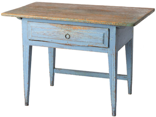 A Swedish Scrub Top Table with Blue Paint, Circa 1850