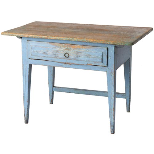blue country table