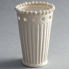 fp-0047_Fluted Vase with Holes and Beaded Rim