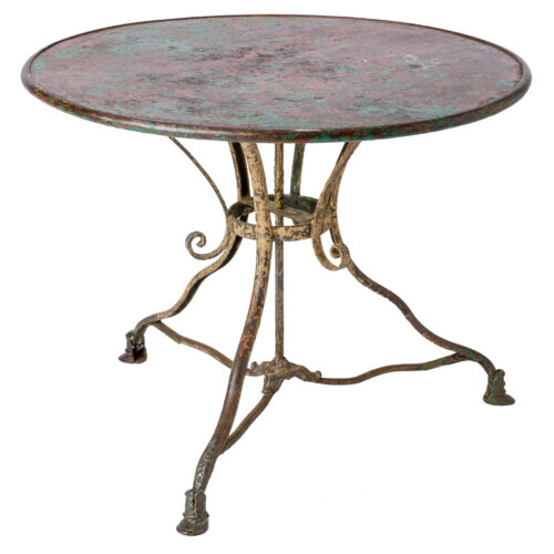 A French Round Table with Pad Feet from the Arras Foundry C 1900