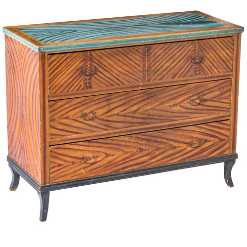 Faux Bois Chest of drawers antique swedish