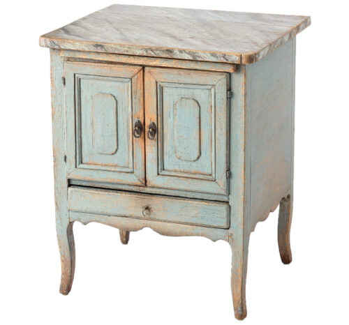 A Swedish Rococo Period Side Table with Faux Marble Top, C. 1780