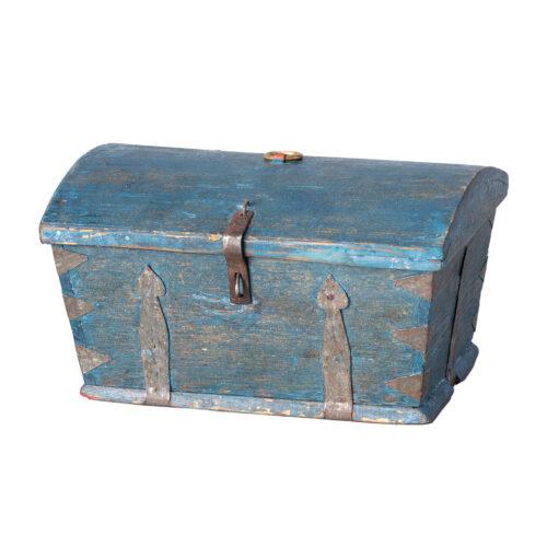 A Swedish Travel Case in Original Blue Paint C.1800