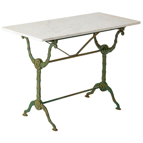 Faux bamboo marble top bistro cafe table