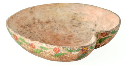 A Swedish Hand Carved Bowl in the Shape of a Heart C. 1832