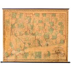 Clark and Tackabury map of Connecticut C. 1860